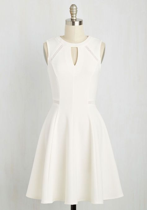 Moxie Must-Have Dress in White. Put your spunky disposition on display with this bright white dress!