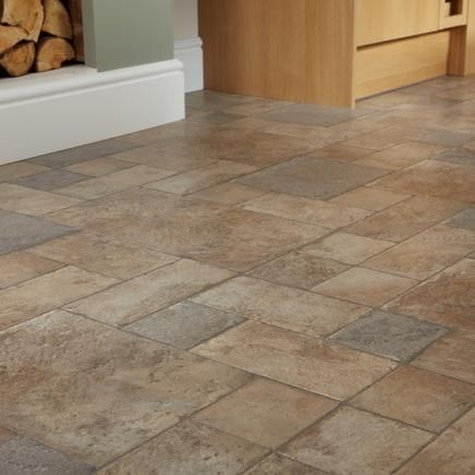 Natural Stone Howdens Warmer Colour But A Bit Busy Flooring Pinterest Stones And Kitchen Images