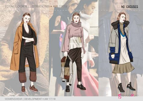 Key look ILLUSTRATIONS for Fall winter 2017-18