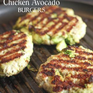 Chunks of fresh avocado mixed right into this Chicken Avocado Burger! Grilled up and served with a bun or Paleo style!