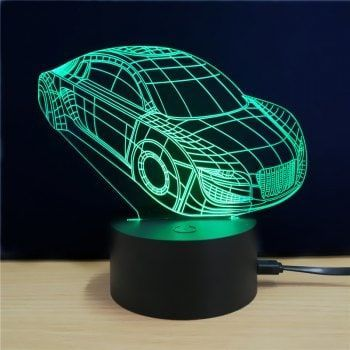 M Sparkling Td071 Creative Car 3d Led Lamp Colorful Lampe Led Lampe Lampes De Nuit