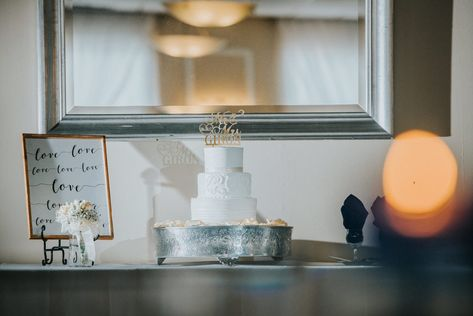A simple yet beautiful display for wedding cake here at Valleybrook Country Club! #ValleybrookCountryClub #RonJaworskiWeddings #Wedding #WeddingInspo #Cake #WeddingCake #Elegant #Simple #WeddingDecor #NjWeddings #NjWeddingVenue #PAWeddings #PhillyWeddingVenue