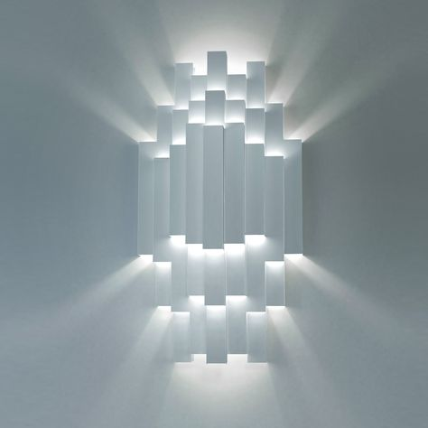 TMS 180 wall light from Strala. Handmade from metal sheet in a numbered limited edition of 125.