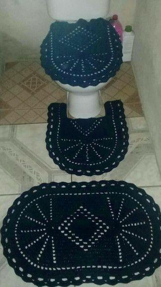 Descubra Como Fazer Croche Em Casa Em 2021 Croche Para Banheiro Jogo De Banheiro Barbante Jogos De Banheiro Croche