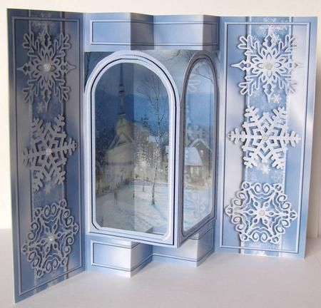 Card Gallery - Snowy Christmas Church Popout Arch Card Kit