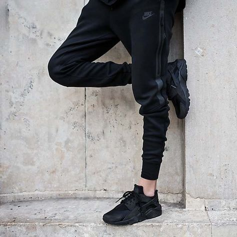 new product d2343 c180e Image result for black nike huarache outfit