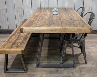 Reclaimed Wood Dining Table Etsy Uk Reclaimed Wood Dining
