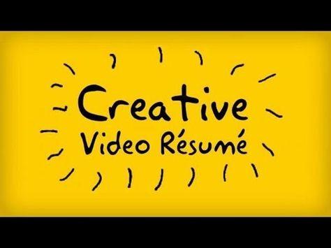 Creative Video Resume - Kassem Jamal - YouTube Career - video resume
