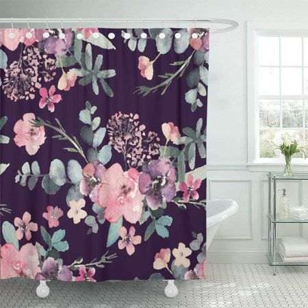 Home Flower Shower Curtain Pink Shower Curtains Bathroom