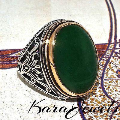 Handmade New Design Purpule Jade Stone 925 Sterling Silver Men/'s Woman/'s Ring