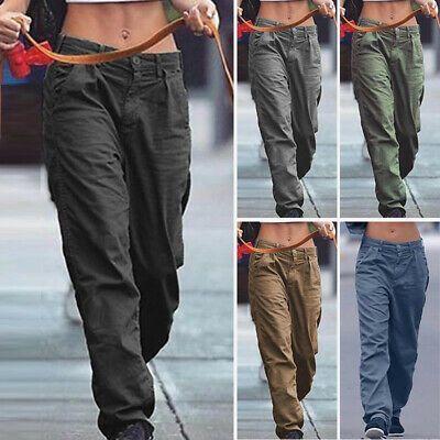 Enlace De Ebay Pantalones De Mujer Pantalones De Mujer Tallas Grandes Pantalones De Carga De Moda Botones R Trousers Women Womens Long Pants Pants For Women