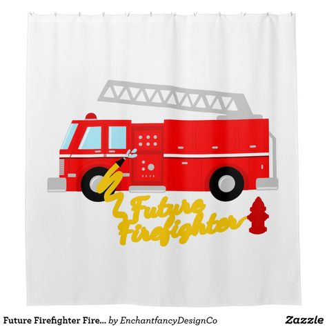 Future Firefighter Fire Truck Shower Curtain
