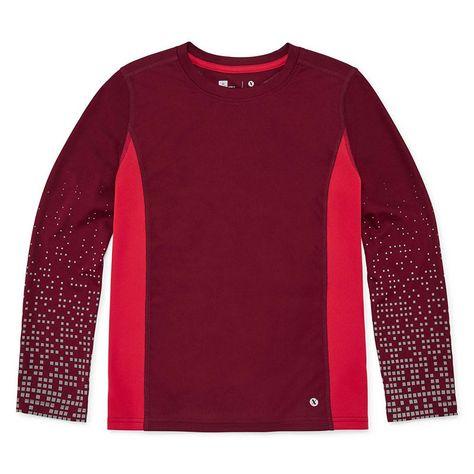 802aa8dd Xersion Long Sleeve Crew Neck T-Shirt Boys | Products | Dri fit t ...