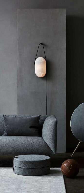 Lampadaire, Arc, blanc, LED, Ø28cm, H142cm Le Klint