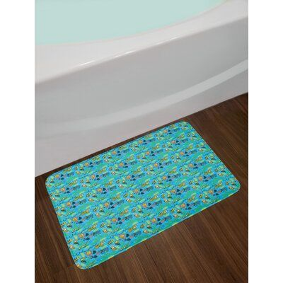 East Urban Home Ambesonne Animal Bath Mat Colourful Pattern Of