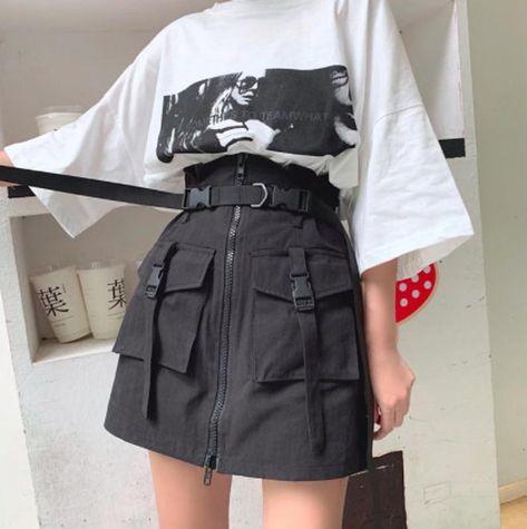 Egirl Fashion, Teen Fashion Outfits, Edgy Outfits, Korean Outfits, Mode Outfits, Cute Casual Outfits, Retro Outfits, Grunge Outfits, Retro Style Fashion