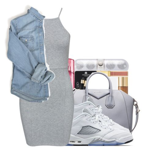 """""""Melrose✨"""" by maiyaxbabyyy ❤ liked on Polyvore featuring Givenchy, Jordan Brand and NLY Trend"""