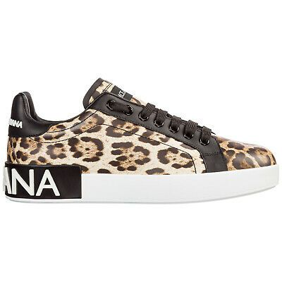 Dolce Gabbana Women S Shoes Leather Trainers Sneakers New Portofino Brown Fed Leather Shoes Woman Womens Shoes Sneakers Dolce Gabbana Sneakers