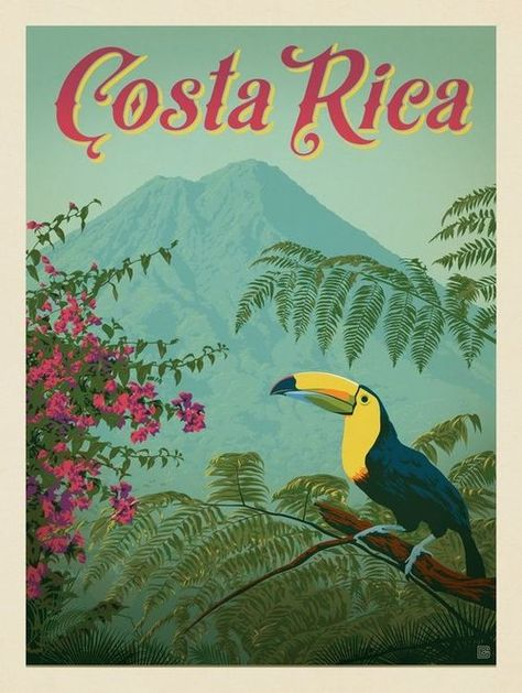 vintage posters Vintage Travel Posters Of Latin America My Latin Life Poster Art, Kunst Poster, Poster Prints, Posters Decor, Room Posters, Costa Rica Art, Costa Rica Travel, Vintage Travel Posters, Vintage Postcards
