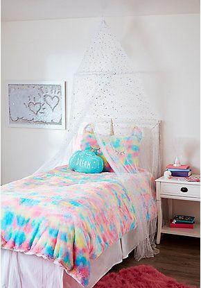 White Foil Round Canopy Girls Room Decor Room Ideas Bedroom Tween Girl Bedroom Decor