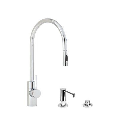 Waterstone Pull Down Single Handle Kitchen Faucet With Side Spray