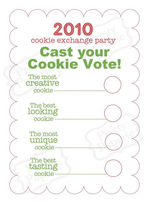 The Busy Budgeting Mama: My Cookie Exchange Party-The Fun & Festive Details!
