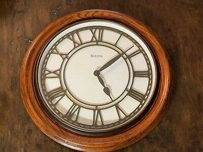 Bulova Wooden Wall Clock Fashion Home Garden Homedcor Clocks Ebay Link Large Led Wall Clock Led Wall Clock Clock Wall Decor