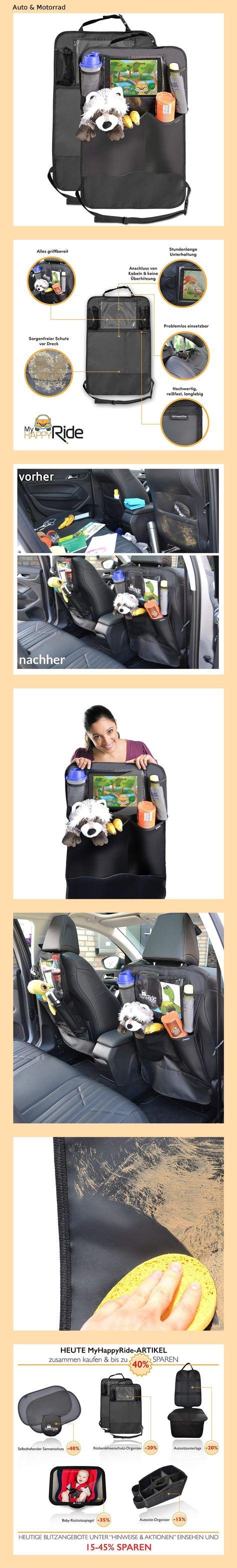 Kinder Auto Organizer Wasserdicht Autositzschoner mit Gro/ße Taschen und iPad-//Tablet-Fach Kick-Matten-Schutz f/ür Autositz 2 St/ück Auto R/ückenlehnenschutz