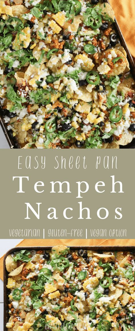 Easy Vegetarian Tempeh Sheet Pan Nachos