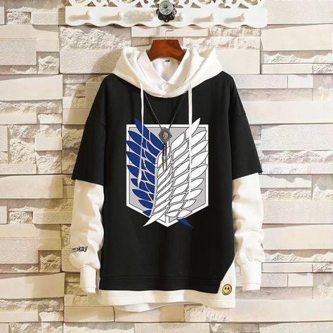 Cosplay Costumes Sweater Hoodie Anime Fairy Tail Attack On Titan Overwatch Sportswear Sweatshirts Top Fake Two Piece Women Men