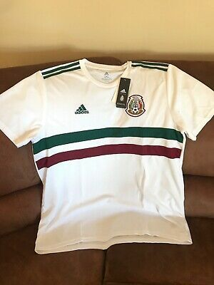 Adidas Mexico El Tri 03 19 Short Sleeves White Soccer Jersey Nwt Size 2xl Men Ebay In 2020 Mens Tops Mens Polo Shirts New Adidas
