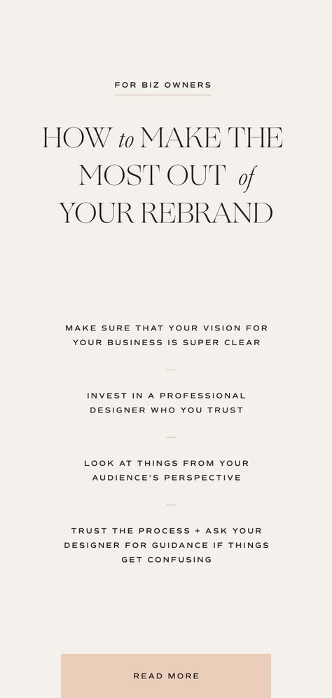 Make the Most Out of Your Rebrand