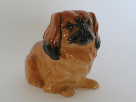 Gentle St.Bernard Porcelain Plate w// Display Stand Puppy Dog