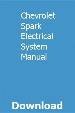 [FPER_4992]  Chevrolet Spark Electrical System Manual | Repair manuals, Electrical  wiring diagram, Physical chemistry | Chevrolet Spark Wiring Diagram |  | Pinterest