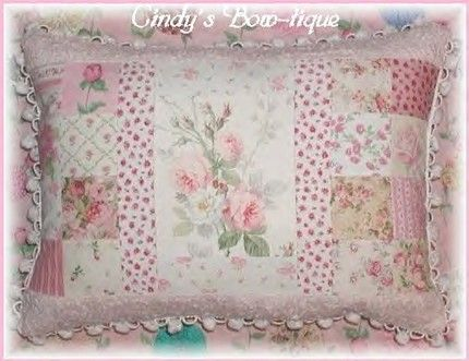 Sage Pillow Pink Cottage Rose Chenille Shabby Green Roses Flowers