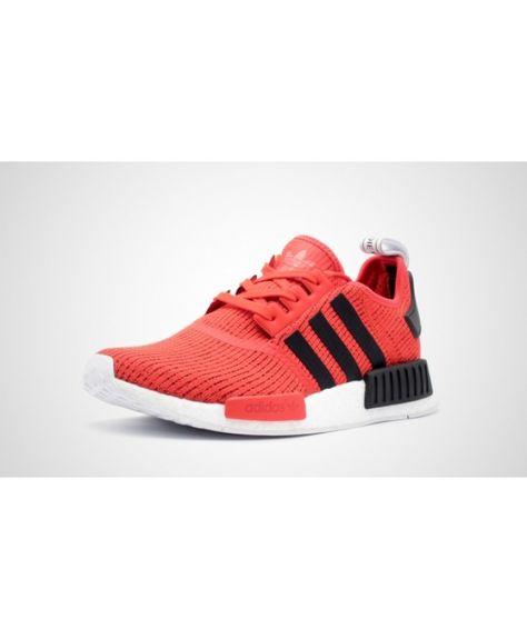 1f20b4789 Popular Adidas NMD R1 Men s Red Black White BB2885 Shoes Bargain ...