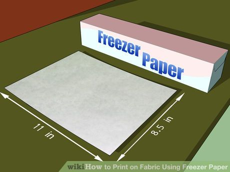 How to Print on Fabric Using Freezer Paper. Printing on fabric allows you to take your crafts projects to a different level! If you don't want to spend money on fabric transfer paper, you can do it yourself with freezer paper, fabric, and. Freezer Paper Transfers, Transfer Paper, Freezer Paper Crafts, Heat Transfer, Freezer Paper Stenciling, Fabric Crafts, Sewing Crafts, Sewing Projects, Diy Crafts