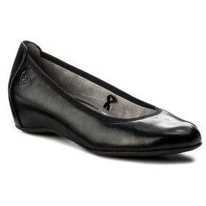 Polbuty Tamaris 1 22421 20 Black Leather 003 Tamaris Shoes Black Leather