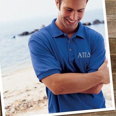a783a38a Fraternity Jersey Knit Polo Shirt - Jerzees 437 - EMB | Fraternity ...