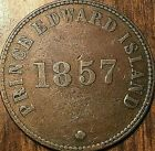 1857 PEI SELF GOVERNMENT AND FREE TRADE HALFPENNY TOKEN - Coinage die axis #Coins&PaperMoney
