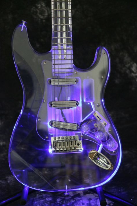 Cheap guitar led light, Buy Quality guitar led directly from China electric guitar Suppliers: Instock Starshine colorful crystal style electric guitar led light body and neck full acrylic body and neck Beginner Electric Guitar, Electric Guitar Kits, Fender Electric Guitar, Custom Electric Guitars, Custom Guitars, Fender Bass Guitar, Guitar Tattoo, Guitar Art, Guitar Shop