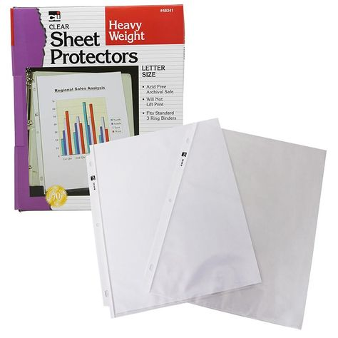 Sheet Protectors 100 Bx Letter Size Lettering Plastic Sheets