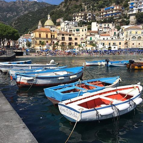 CETARA ITALY Traditional fishing village on the Amalfi Coast. Less touristy than other parts of the Amalfi.  #amalficoast #cetara #boats