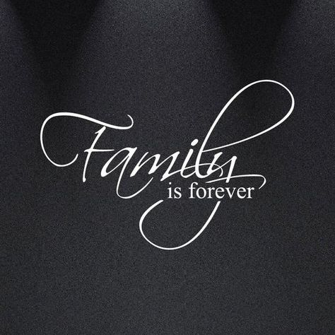 """Family Is Forever Vinyl Wall Decal Art Saying Home Decor Sticker #1225 (20"""" Wide X 13"""" High)"""
