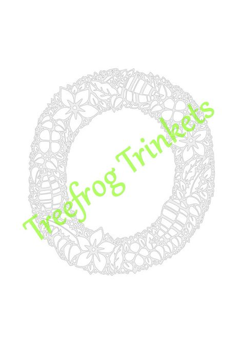 cyo papercut template letter o by treefrogstrinkets on etsy paper