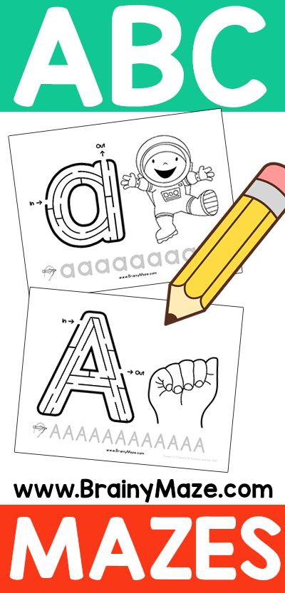 Free Alphabet Mazes for Kids! ABC Mazes are perfect for introducing key handwriting skills. Lowercase, Uppercase, ASL, Beginning Letter...
