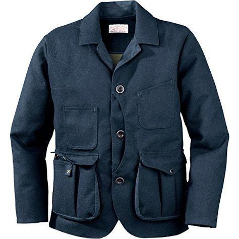 Filson Mens Guide Wool Work Jacket (Navy Wool/Olive, X-Large) 10413