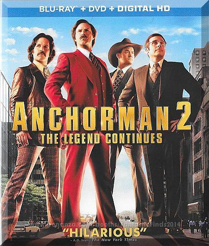 Blu Ray Anchorman 2 The Legend Continues 2013 Will Ferrell