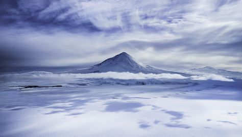 The closest active volcano to the pole - Mount Erebus - photo from #treyratcliff Trey Ratcliff at http://www.StuckInCustoms.com