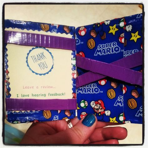 Magic Wallet  Ducttape by JustinesICrafts on Etsy, $3.00